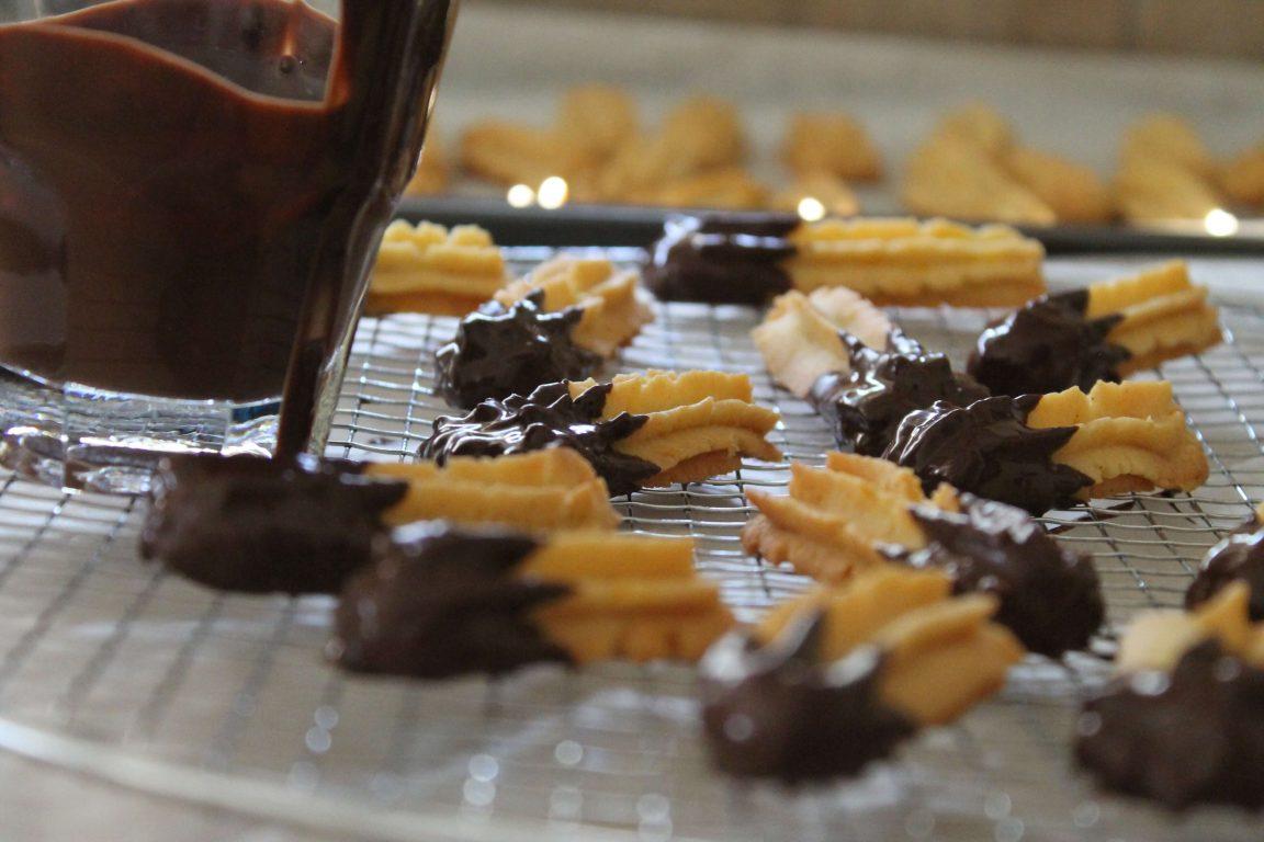 עוגיות חמאה תפוז - שוקולד