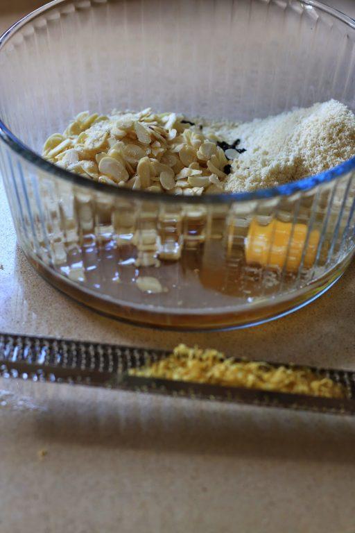 טארט דבש ושקדים