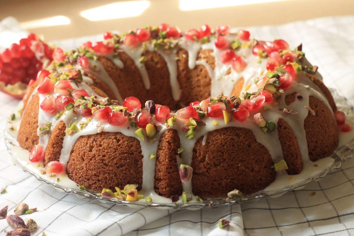 עוגת פיסטוקים ושמן זית