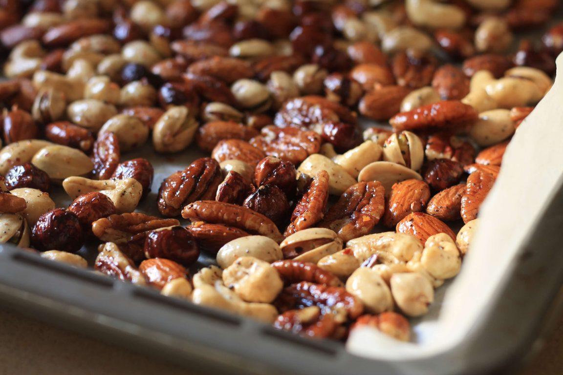 מיקס אגוזים בצ'אי מסאלה