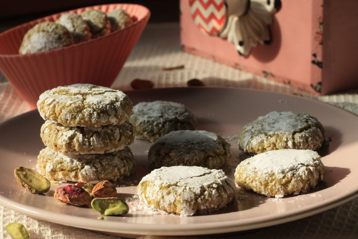 עוגיות פיסטוק לפסח