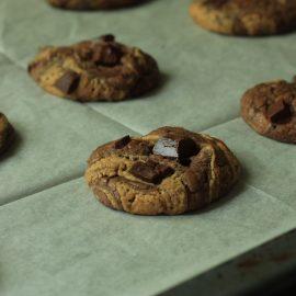 עוגיות בראוני שוקולד - חמאת בוטנים ללא גלוטן