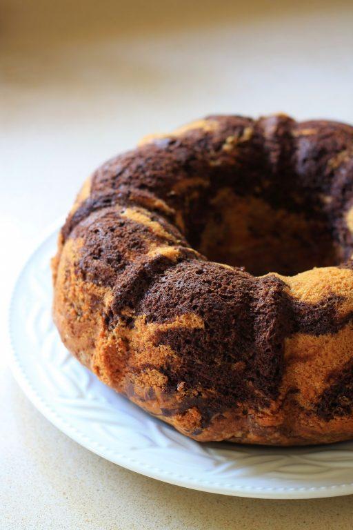 עוגת שיש שוקולד - וניל