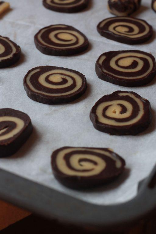עוגיות חמאה שוקו - ווניל