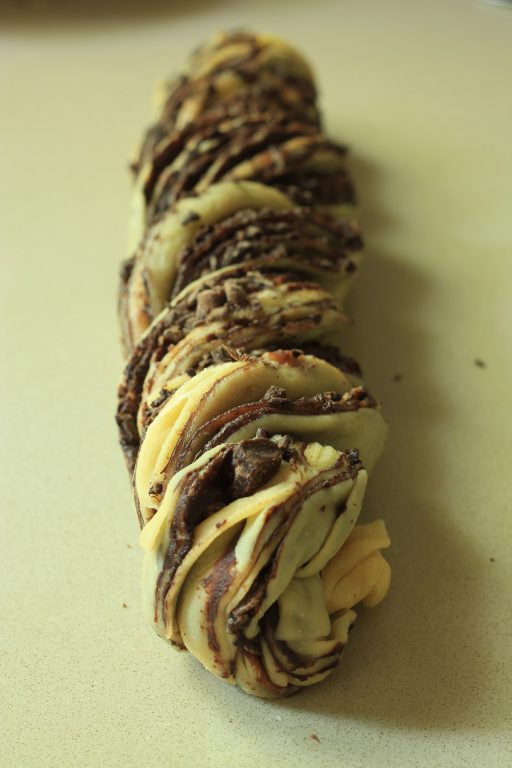בבקה שוקולד ופירורים