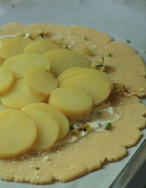 גאלט תפוחי אדמה וכרישה בקרם פרש