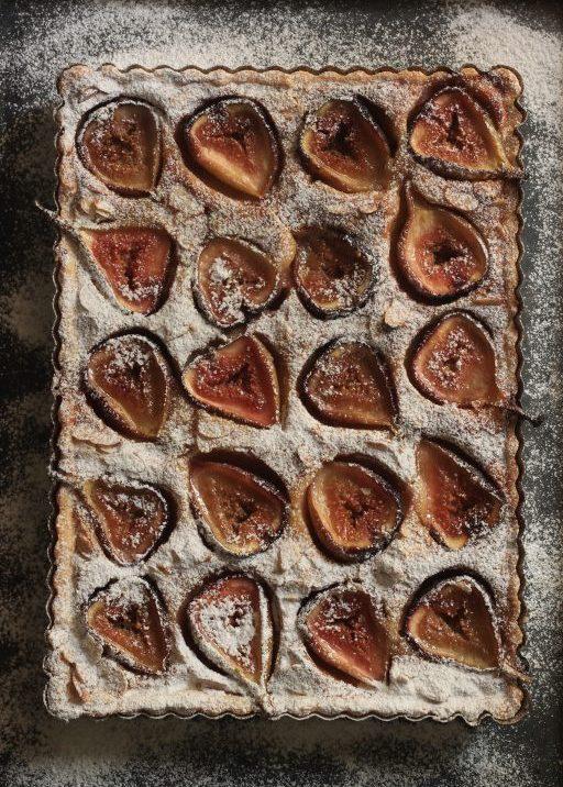 טארט תאנים בקרם מרציפן ודבש