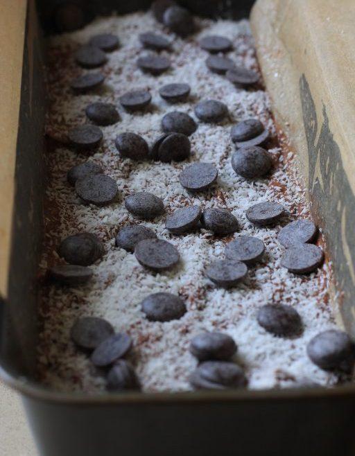 עוגת שוקולד בננה קוקוס
