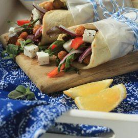 גירוס ירקות וגבינה בולגרית