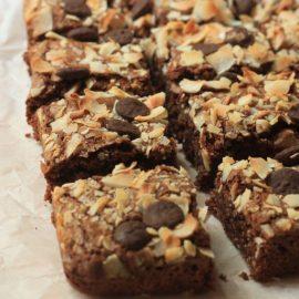 בראוניז שוקולד קוקוס לל גלוטן וללא מוצרי חלב