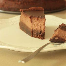 עוגת גבינה ניו יורקית שוקולדית